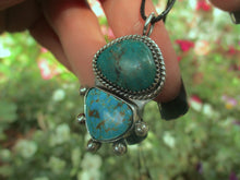 Load image into Gallery viewer, Turquoise Mountain & Hubei Turquoise Pendant - Sterling Silver - Gem & Tonik
