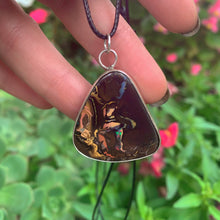 Load image into Gallery viewer, Australian Boulder Opal Pendant - Genuine Yowah Opal - Sterling Silver - Gem & Tonik