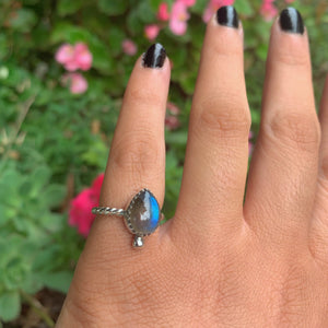 Blue Labradorite Ring - Size 4 - Gem & Tonik
