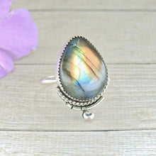 Load image into Gallery viewer, Rainbow Labradorite Ring - Size 12 - Gem & Tonik