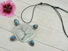 Load image into Gallery viewer, Labradorite Tree of Life Pendant - Sterling Silver - Gem & Tonik