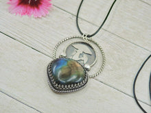 Load image into Gallery viewer, Rainbow Labradorite Toadstool Pendant - Gem & Tonik