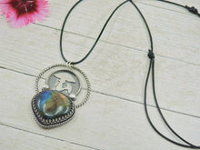 Load image into Gallery viewer, Rainbow Labradorite Toadstool Pendant - Sterling Silver - Gem & Tonik