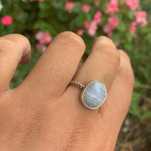 Load image into Gallery viewer, Faceted Blue Lace Agate Ring - Size 6 3/4 - Gem & Tonik