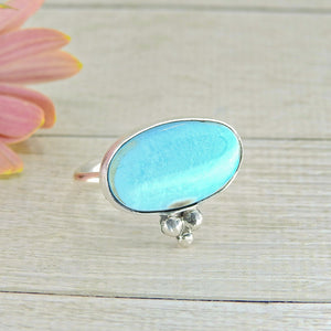 Dry Creek Turquoise Ring - Size 8 1/4 - Sterling Silver - Gem & Tonik