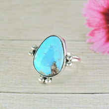 Load image into Gallery viewer, Turquoise Mountain Turquoise Ring - Size 7 3/4 - Sterling Silver - Gem & Tonik