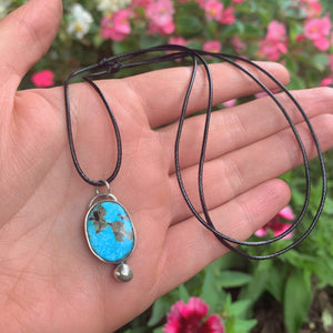 Royston Turquoise Pendant - Sterling Silver - Gem & Tonik