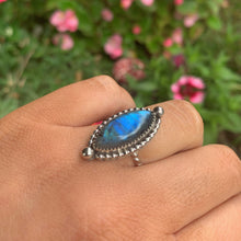 Load image into Gallery viewer, Blue Labradorite Ring - Size 5 1/2 - Sterling Silver - Gem & Tonik