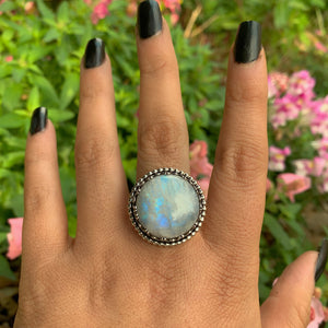 Large Moonstone Ring - Size 9 1/4 - Gem & Tonik