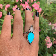 Load image into Gallery viewer, Turquoise Mountain Turquoise & Rose Quartz Ring - Size 7 - Gem & Tonik