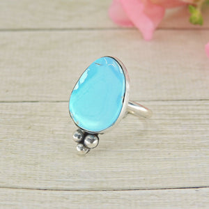 Bluebird Turquoise Ring - Size 8 - Sterling Silver - Gem & Tonik