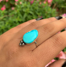 Load image into Gallery viewer, Bluebird Turquoise Ring - Size 8 - Sterling Silver - Gem & Tonik