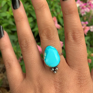 Bluebird Turquoise Ring - Size 8 - Gem & Tonik