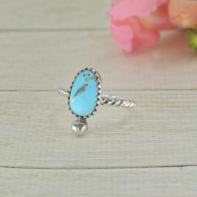 Kingman Turquoise Ring - Size 4 - Gem & Tonik