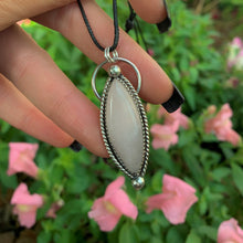 Load image into Gallery viewer, Marquise Rose Quartz Pendant - Sterling Silver - Gem & Tonik