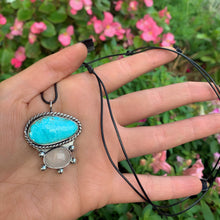 Load image into Gallery viewer, Campitos Turquoise & Rose Quartz Pendant - Sterling Silver - Gem & Tonik