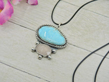 Load image into Gallery viewer, Campitos Turquoise & Rose Quartz Pendant - Gem & Tonik