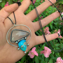 Load image into Gallery viewer, Morenci Turquoise & Rose Quartz Pendant - Gem & Tonik
