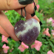 Load image into Gallery viewer, Chevron Amethyst Heart Pendant - Sterling Silver - Gem & Tonik