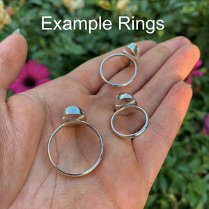 Your Custom Moonstone Ring - Made to Order - Gem & Tonik
