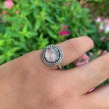 Load image into Gallery viewer, Dainty Rose Quartz Ring - Size 5 - Sterling Silver - Gem & Tonik