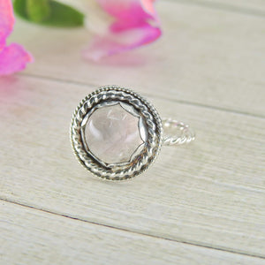 Dainty Rose Quartz Ring - Size 5 - Gem & Tonik