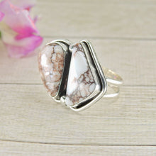 Load image into Gallery viewer, Wild Horse Magnesite Double Stone Ring - Size 8 3/4 - Gem & Tonik