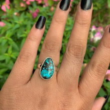 Load image into Gallery viewer, Snowville Turquoise Variscite Ring - Size 6 - Sterling Silver - Gem & Tonik