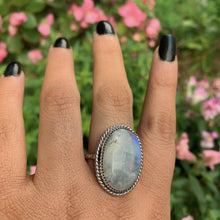 Load image into Gallery viewer, Large Moonstone Ring - Size 8 1/2 - Gem & Tonik