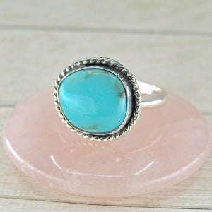 Fox Turquoise Ring - Size 12 1/2 - Sterling Silver - Gem & Tonik