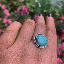 Load image into Gallery viewer, Fox Turquoise Ring - Size 12 1/2 - Sterling Silver - Gem & Tonik