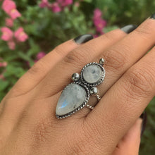 Load image into Gallery viewer, Double Moonstone Statement Ring - Size 7 1/2 - Gem & Tonik