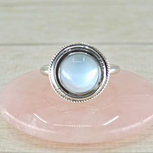 Pastel Blue Larimar Ring - Size 8 3/4 - Sterling Silver - Gem & Tonik