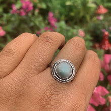 Load image into Gallery viewer, Pastel Blue Larimar Ring - Size 8 3/4 - Sterling Silver - Gem & Tonik