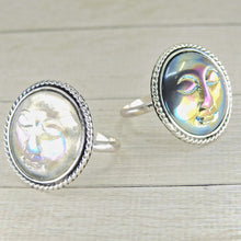 Load image into Gallery viewer, Your Custom Aura Quartz Moon Goddess Ring - Made to Order - Gem & Tonik