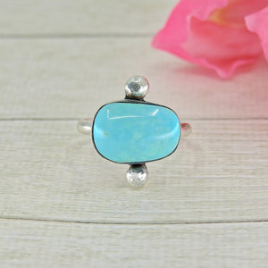 Light Blue Dry Creek Turquoise Ring - Size 8 - Gem & Tonik