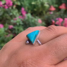 Load image into Gallery viewer, Compass Turquoise Ring - Size 6 - Gem & Tonik