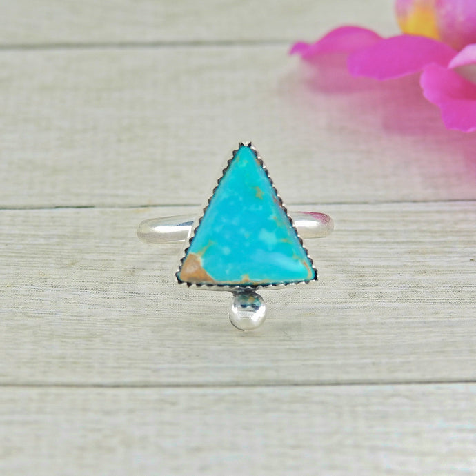 Compass Turquoise Ring - Size 6 - Sterling Silver - Gem & Tonik