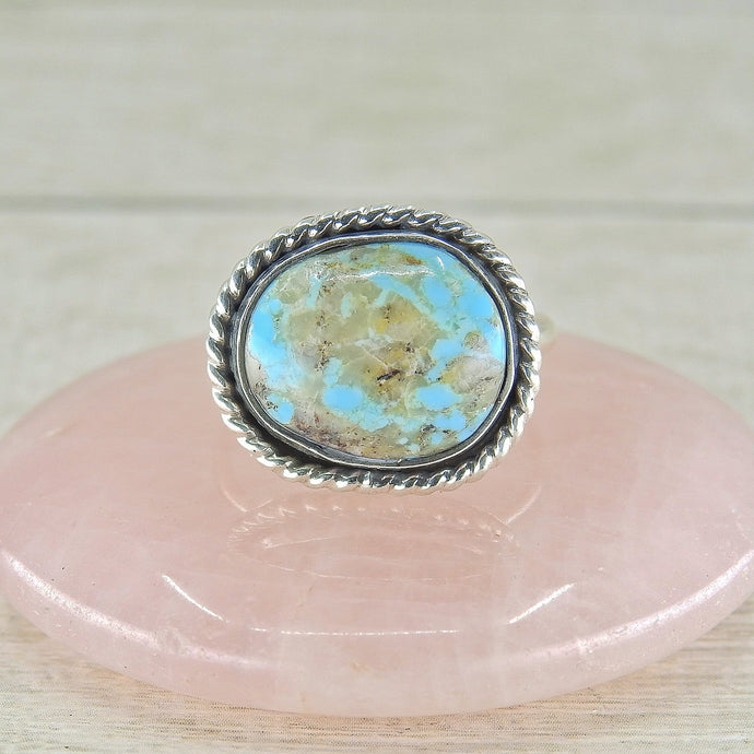 Royston Turquoise Ring - Size 6 1/2 - Sterling Silver - Gem & Tonik