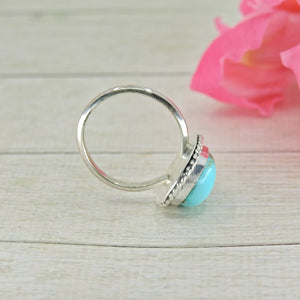 Turquoise Mountain Turquoise Ring - Size 7 - Sterling Silver - Gem & Tonik