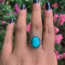 Load image into Gallery viewer, Turquoise Mountain Turquoise Ring - Size 7 - Sterling Silver - Gem & Tonik