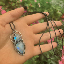 Load image into Gallery viewer, Double Moonstone Pendant - Gem & Tonik