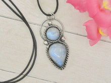 Load image into Gallery viewer, Double Moonstone Pendant - Sterling Silver - Gem & Tonik
