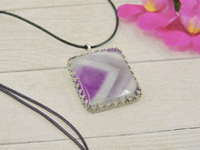 Load image into Gallery viewer, Chevron Amethyst Pendant - Sterling Silver - Gem & Tonik