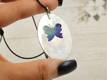 Load image into Gallery viewer, Rainbow Fluorite Butterfly Pendant - Sterling Silver - Gem & Tonik