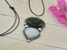 Load image into Gallery viewer, Obsidian & Moonstone Pendant - Gem & Tonik