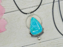 Load image into Gallery viewer, Elisa Turquoise Pendant - Sterling Silver - Gem & Tonik