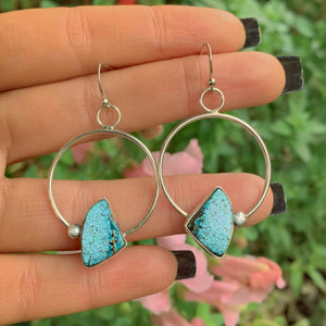 Number Eight Turquoise Earrings - Sterling Silver - Gem & Tonik