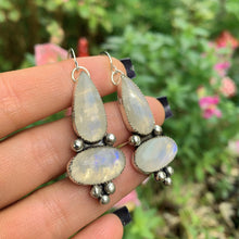 Load image into Gallery viewer, Double Moonstone Earrings - Sterling Silver - Gem & Tonik