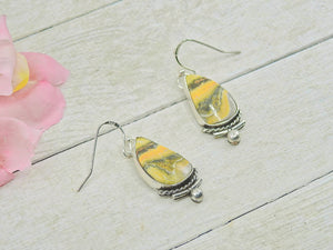 Bumblebee Jasper Earrings - Gem & Tonik